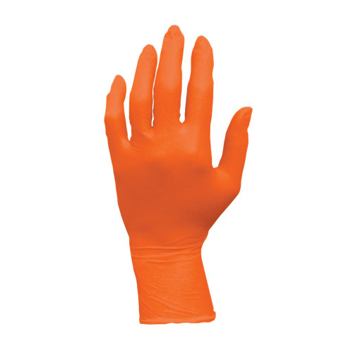 Orange Nitrile Powder Free Gloves - Large