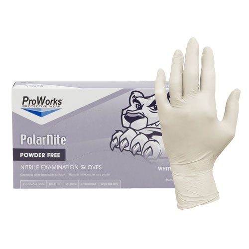 ProWorks® White Nitrile Powder Free Gloves - Large