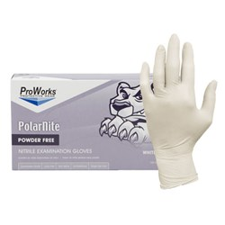 ProWorks® White Nitrile Powder Free Gloves - Medium