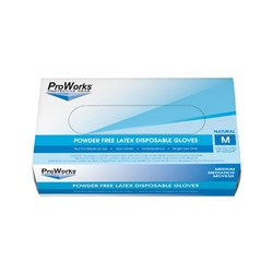 ProWorks® Latex Powder-Free Disposable Gloves - Medium