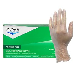 ProWorks® Vinyl Powder Free Gloves - Medium