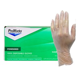 ProWorks® Vinyl Powdered Gloves - Medium