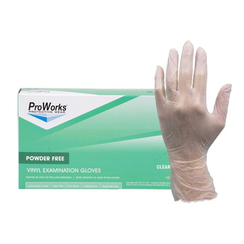 ProWorks® Vinyl Powdered Gloves - Small