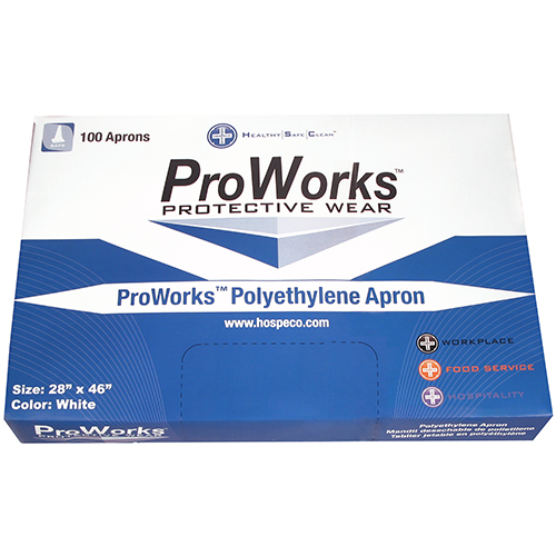 ProWorks® Disposable Aprons - Polyethylene