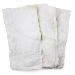 New White Terry Hand Towels, 25 lb