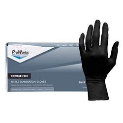 Black Nitrile Exam Powder Free Large