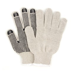 ProWorks® PVC Dotted String Knit Gloves-Single Sided
