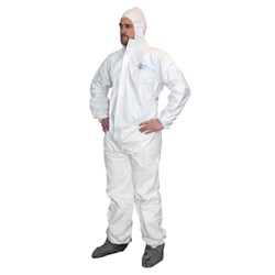 ProWorks® Breathable Liquid and Particulate Coveralls, w/boots, med