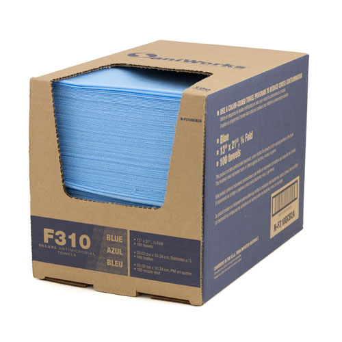 Deluxe Antimicrobial Towels-13x21 Blue