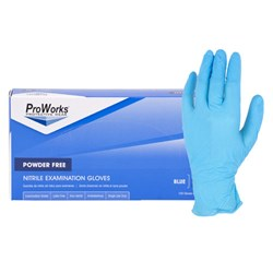 Blue Nitrile Powder Free Exam Glove-Large