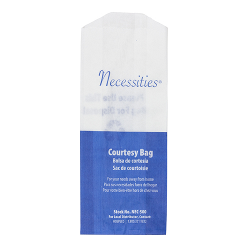 Necessities® Courtesy Bags Printed White