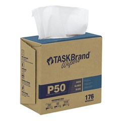 "TASKBRAND P50 LD HYDROSPUN, 9""X12.75"", INTERFOLD DISPENSER BOX, WHITE, 176/BX, 10 BXS/CS (N-P050IDW2)"