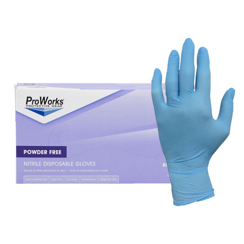 ProWorks® High Dexterity Powder Free Nitrile Gloves - Small