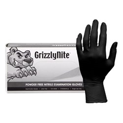 ProWorks® Black Nitrile Powder Free Gloves - Medium